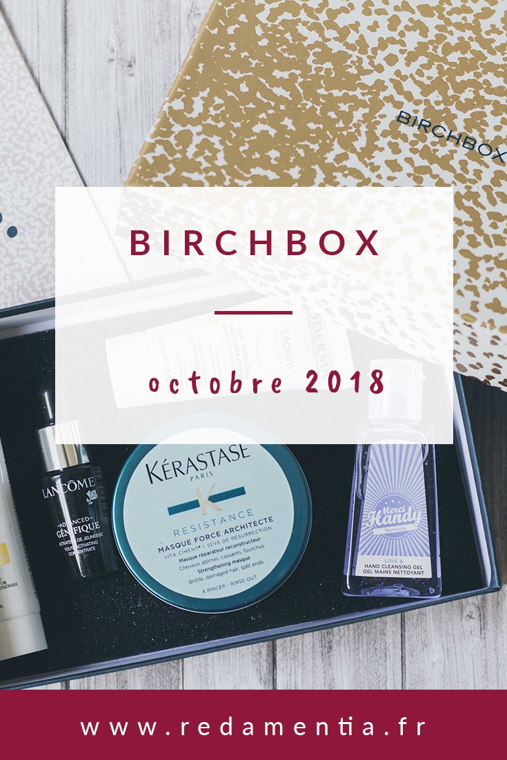 Birchbox Octobre 2018 Pinterest