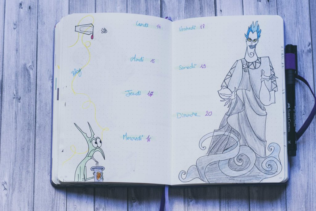 Bullet Journal Disney Janvier 2019 : Hercule